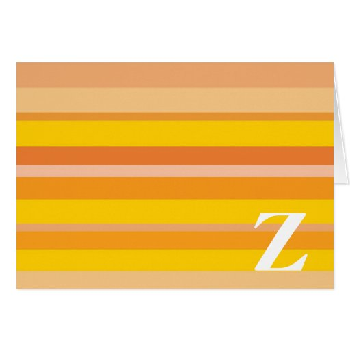Monograma con un fondo rayado colorido - Z Felicitaciones