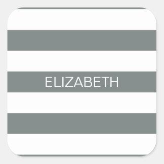 Monograma conocido de muy buen gusto blanco de la