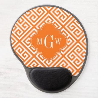Monograma conocido dominante griego del MED Diag T Alfombrilla De Raton Con Gel