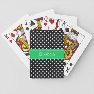Monograma conocido esmeralda de los lunares barajas de cartas
