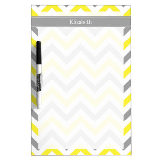 Monograma conocido gris gris amarillo de LG Chevro Pizarras Blancas