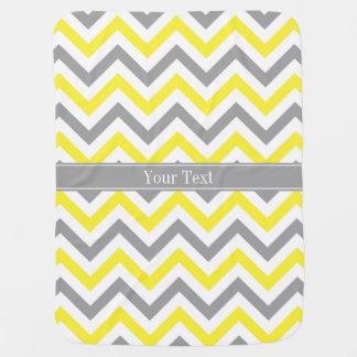 Monograma conocido gris gris amarillo de LG Mantita Para Bebé