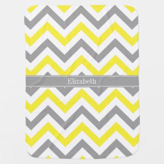 Monograma conocido gris gris amarillo de LG Mantitas Para Bebé