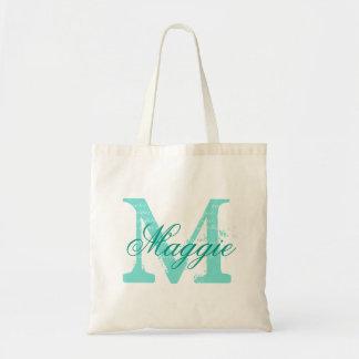 Monograma conocido personalizado moda bolsa tela barata