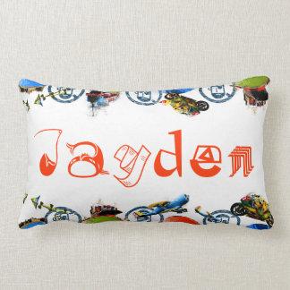 Monograma conocido personalizado para Jayden/los m Cojines