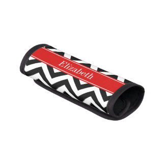 Monograma conocido rojo blanco negro de LG Chevron Funda Para Asa De Maleta