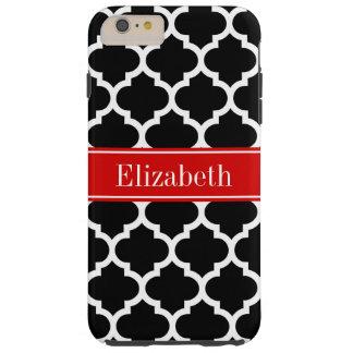 Monograma conocido rojo blanco negro del marroquí funda para iPhone 6 plus tough