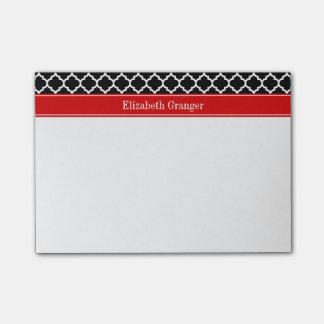 Monograma conocido rojo blanco negro del marroquí post-it notas