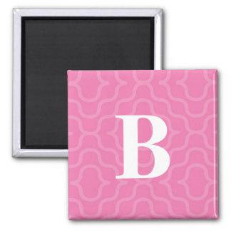 Monograma contemporáneo adornado - letra B Imán Cuadrado