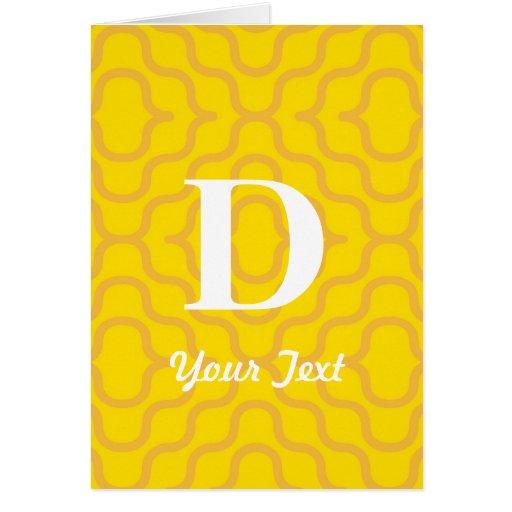 Monograma contemporáneo adornado - letra D Tarjeta De Felicitación
