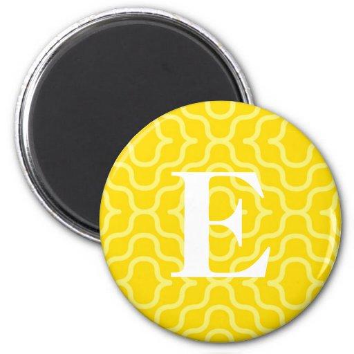 Monograma contemporáneo adornado - letra E Iman