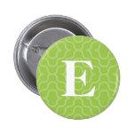 Monograma contemporáneo adornado - letra E Pins