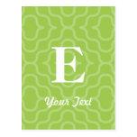 Monograma contemporáneo adornado - letra E Postal