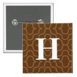 Monograma contemporáneo adornado - letra H Pins