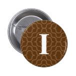 Monograma contemporáneo adornado - letra I Pin