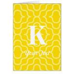 Monograma contemporáneo adornado - letra K Felicitaciones