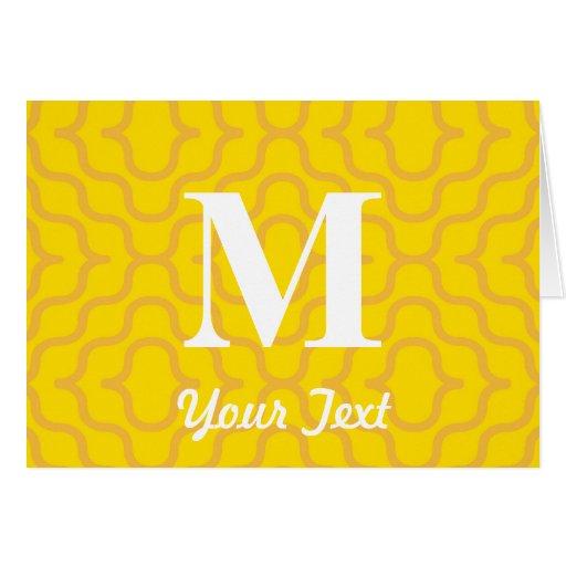 Monograma contemporáneo adornado - letra M Tarjeta De Felicitación