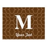 Monograma contemporáneo adornado - letra M Postales