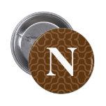 Monograma contemporáneo adornado - letra N Pin