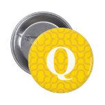 Monograma contemporáneo adornado - letra Q Pins