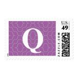 Monograma contemporáneo adornado - letra Q Sellos