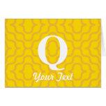 Monograma contemporáneo adornado - letra Q Tarjetón