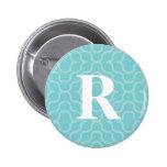 Monograma contemporáneo adornado - letra R Pins