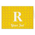 Monograma contemporáneo adornado - letra R Tarjetas