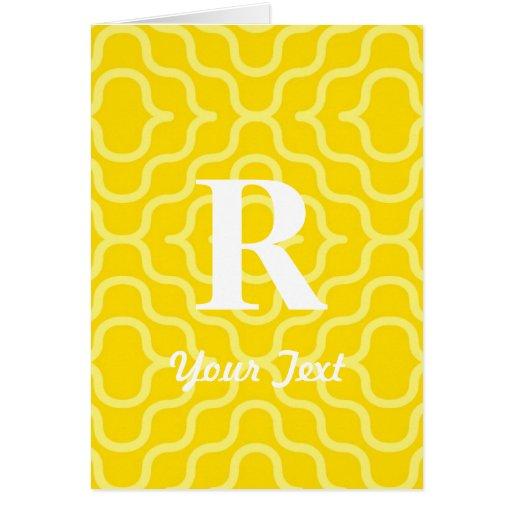 Monograma contemporáneo adornado - letra R Tarjeta De Felicitación