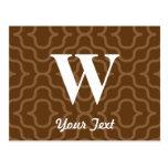 Monograma contemporáneo adornado - letra W Postales