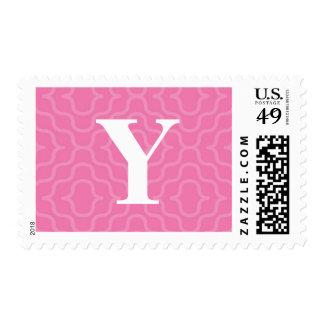 Monograma contemporáneo adornado - letra Y Sello Postal