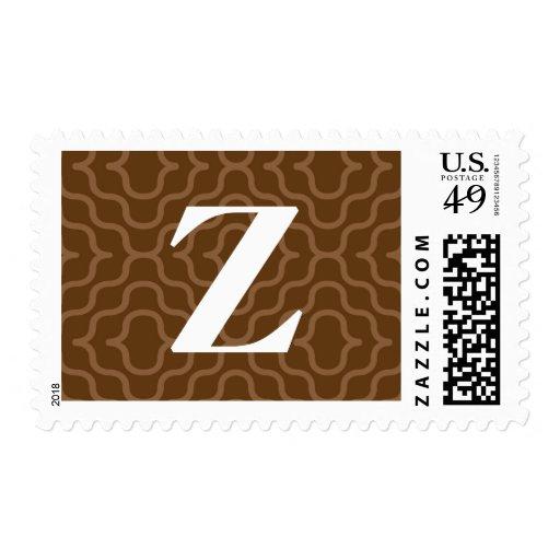 Monograma contemporáneo adornado - letra Z Envio