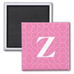 Monograma contemporáneo adornado - letra Z Imán De Frigorífico