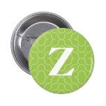 Monograma contemporáneo adornado - letra Z Pins