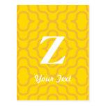 Monograma contemporáneo adornado - letra Z Postal