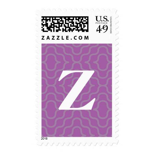 Monograma contemporáneo adornado - letra Z Sellos Postales