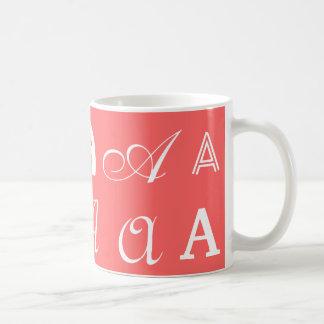"Monograma coralino ""A "" Taza"