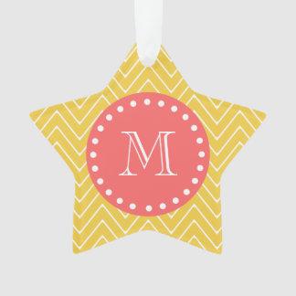 Monograma coralino amarillo del modelo el | de Che