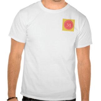 Monograma coralino amarillo del modelo el de Che Camisetas