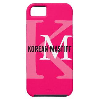 Monograma coreano del mastín iPhone 5 fundas