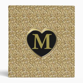 """Monograma cristalino de Druzy - oro metálico Carpeta 1"""""""