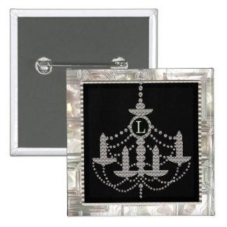 Monograma cristalino del boda de la lámpara del Vi Pins