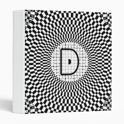Monograma D de la ilusión óptica