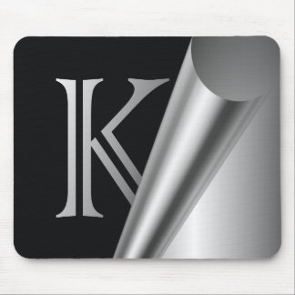 """Monograma de acero """"K """" de la cáscara Alfombrilla De Ratón"""