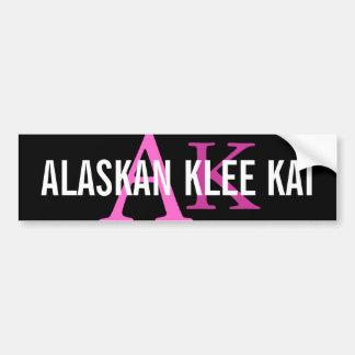 Monograma de Alaska de la raza de Klee Kai Etiqueta De Parachoque
