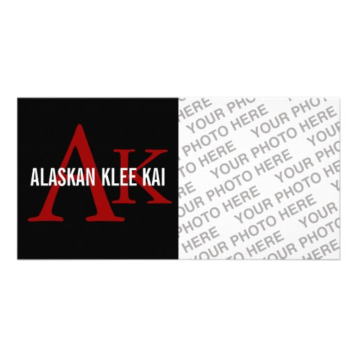 Monograma de Alaska de la raza de Klee Kai Tarjeta Personal Con Foto