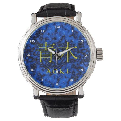 Monograma de Aoki Reloj De Mano