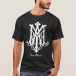 Monograma de avenida Maria - camisa católica