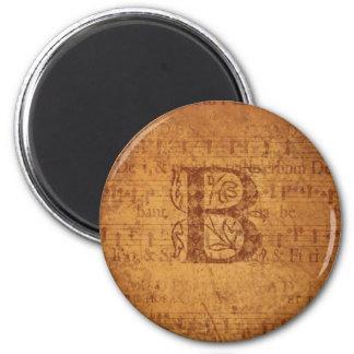 Monograma de B Imán Redondo 5 Cm
