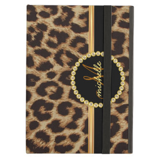 Monograma de Bling del oro del leopardo